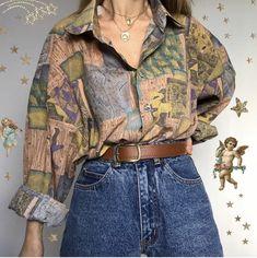 Fashion splicing patterns long sleeve blouse 2020 new style Fashion Outfits Blouse fashion long patterns Sleeve splicing style Fashion Mode, Aesthetic Fashion, 80s Fashion, Aesthetic Clothes, Vintage Fashion, Fashion Outfits, Retro Style Fashion, Teen Guy Fashion, Fashion Design