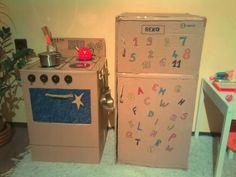 Kartondobozból sütő és hűtő! :)