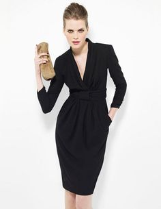 Petite robe noire Paule Ka Black Betty, Paule Ka, Back To Black, Wrap Dress, Dressing, Dresses For Work, Style Inspiration, Chic, Clothes