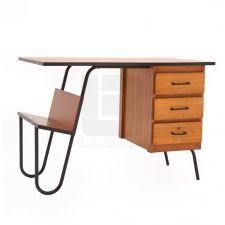Escritorio madera abedul, Francia años 40 (Pierre Guariche) Pierre Guariche, Office Desk, Furniture, Home Decor, Desks, Birch, France, Mesas, Desk Office