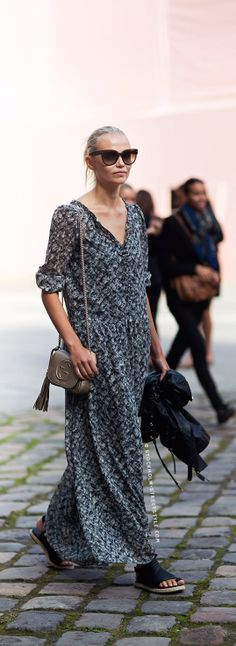 Natasha Poly. Stockholm Streetstyle. Maxi dress