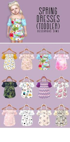 – Página web de descargass… - All For Hairstyles Sims 4 Toddler Clothes, Sims 4 Cc Kids Clothing, Sims 4 Mods Clothes, Toddler Outfits, Toddler Girls, Girl Outfits, The Sims 4 Pc, Sims Four, Sims Cc