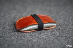 Leather Felt Apple Magic Mouse Case Hand-made Dyed Hand Wax, Honey Brown, Stitching Leather, Vegetable Tanned Leather, Cow Leather, Color Show, Wool Felt, Apple Magic, Magic Mouse