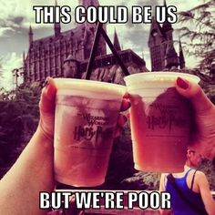 This is my life in a meme. The Wizarding World of Harry Potter unleashes my inner nerd and the frozen Butter Beer is the Wizarding worlds gift to muggles. I could drink like 8 a day.