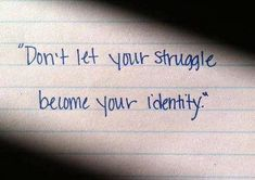 mixed connective tissue disease -don't let your struggle become your identity.