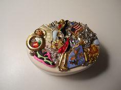 Golfer Mom Trinket Jewelry Ceramic Box, Handmade OOAK Ring Box, Christian Box by ChaostoChrist on Etsy