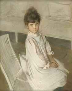 Paul-César Helleu, « Ellen Helleu » vers 1893, Pastel sur papier / Les Amis de Paul-César Helleu