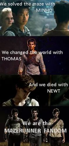 *Spoiler* I love this but I still hate how Newt had to die and I am pretty sure that every one can agree with me