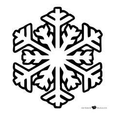Copos De Nieve Para Colorear