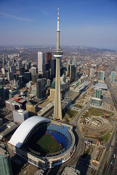 Rogers centre,Toronto , home of the Toronto Blue jays ,I've been there one , best time ever