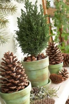 Find 25 fun ideas for Thanksgiving and Christmas decorating with pinecones, including pinecone ornaments, pinecone wreaths, mantel decorating ideas and holiday centerpieces with pinecones. Get pinecones in your yard or at a crafts store for these easy projects.