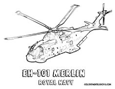 Helicopters Royal Navy Coloring Pages For Kids Printable