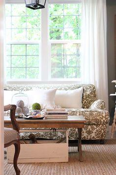 pretty patterned sofa