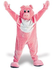 Get ready for the pig mascot cheap Halloween costume. This pig mascot is defintely one of the best Halloween costumes. The pig mascot will work for any party.