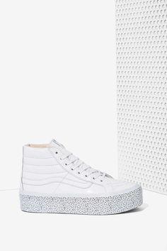 Nasty Gal x Vans Step Up Sk8-Hi Leather Platform Sneaker