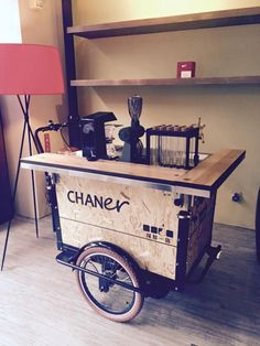 great looking coffee cart                                                                                                                                                                                 More