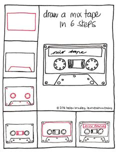 How to draw a mix tape in 6 easy steps