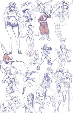 A compilation of random sketches that I never... by Robaato.deviantart.com on @deviantART