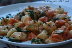 #Gnocchetti di pasta con zucchine e gamberetti