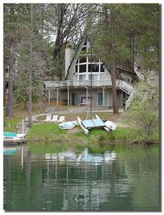 Pine Mountain Lake - Found this photo of my Sister-in-laws house on pinterest! Love hanging out with the family here!!