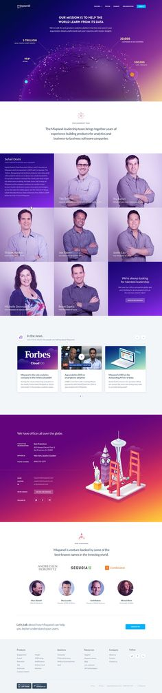 Mixpanel Company Page / Purple Rain. If you like UX, design, or design thinking, check out theuxblog.com podcast https://itunes.apple.com/us/podcast/ux-blog-user-experience-design/id1127946001?mt=2