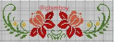 This Pin was discovered by Ros Cross Stitch Borders, Modern Cross Stitch Patterns, Cross Stitch Flowers, Cross Stitch Designs, Cross Stitching, Flower Boarders, Seed Bead Flowers, Crochet Mandala, Embroidery Stitches