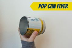 DIY Pop Can Flyer. Make a flying object from an aluminum can!