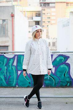 Elysa C - A Bathing Ape Bucket Hat, Carhartt Shirt, Adidas Nmd Cs2 - B // W   LOOKBOOK