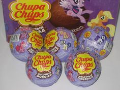 NEW! 5 pcs. CHOCOLATE BALL EGG MY LITTLE PONY CHUPA CHUPS!