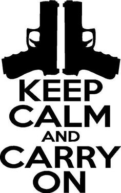 Keep Calm And Carry On Sticker Vinyl Decal by GraniteCityGraphics