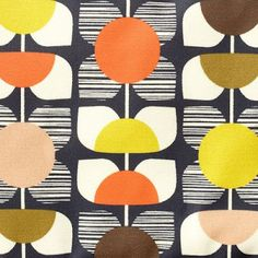 (assuming this is) textile design by orla kiely Motifs Textiles, Textile Patterns, Textile Design, Pretty Patterns, Vintage Patterns, Vintage Prints, Surface Pattern Design, Pattern Art, Arabic Pattern