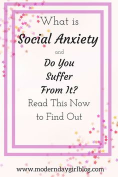 Social anxiety, mental health and whether you suffer from it or not. Mental illness, mental health, well being
