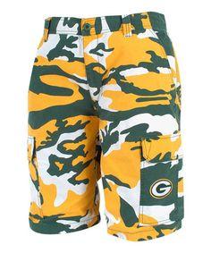 Green Bay Packers Camo Shorts - Men by North Bay Apparel
