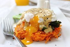 Poached Egg Smoked Salmon Sweet Potato Rosti (29)