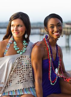 olivia necklace - named after one of our artisans, olivia...who started working with African Style. because she was provided work, she did not have give up her child for adoption. #noondaystyle