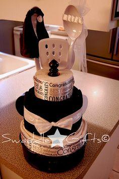 Love is Sweet Kitchen Towel Cake