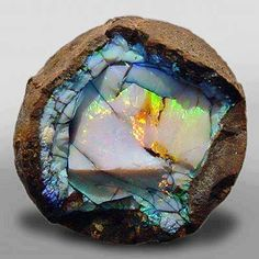 Yowah-Nut Opals are highly prized as beautiful stones with special patterns often forming pictures.