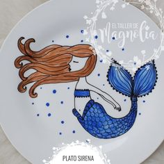 Plato con Sirena para decorar