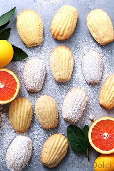 Citrus Madeleines - French butter cakes