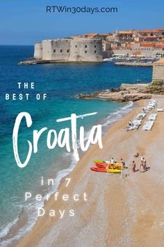 Croatia has so many wonderful sights that you could spend months trying to see it all. But if you just have a week, this 7-day itinerary is a great way to explore some of the best of Croatia. From Rovinj and Split to Plitvice Lakes National Park and Dubrovnik, you really can squeeze a lot into 7 days!  #travel #croatia #7dayitinerary #oneweek #bestofCroatia #dubrovnik