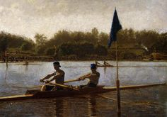 loftcultural:    Thomas Eakins - The Biglin Brothers Turning the Stake Boat (1873)