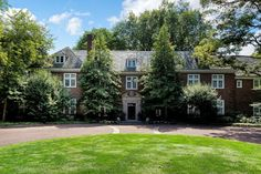 House of the Day: A Manor Home With History - WSJ Long Island, Acre, Beautiful Homes, Lawn, Brick, Home And Family, Real Estate, Exterior, Mansions