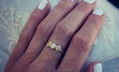 Sterling Silber Ring Opalring Meerjungfrau von ChildrenofFlowers