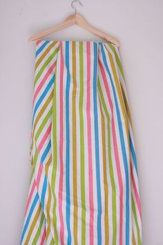 Vintage sheet fitted twin new old stock striped by fuzzymama, $15.00