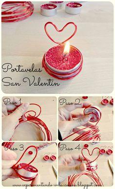 Idea san valentin, tips san valentin, tips for valentine, portavelas, candleholder