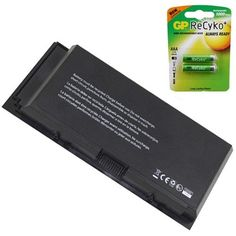 Dell 97KRM Laptop Battery - Premium Powerwarehouse Battery 9 Cell (Free AAA Batteries)
