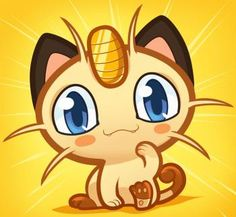 How to Draw Chibi Meowth, Pokemon, Step by Step, Chibis, Draw Chibi, Anime, Draw Japanese Anime, Draw Manga, FREE Online Drawing Tutorial, Added by Dawn, March 12, 2012, 9:16:12 pm