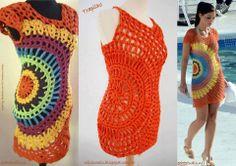 Crochet circle dress