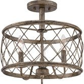 Features:  -Adjustable base: No.  -Cannot be hung from a sloped ceiling.  -Rod…