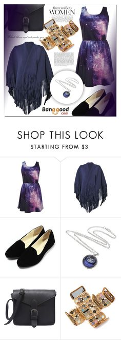"""""""BANGGOOD 7"""" by mini-kitty ❤ liked on Polyvore featuring Burberry, Whiteley, Summer, purple, galaxy, Night and palette"""